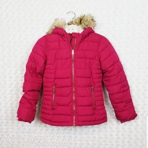 Old Navy Red Puffer Coat